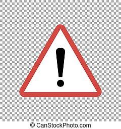 vecteur, signe, illustration, avertissement, isolé