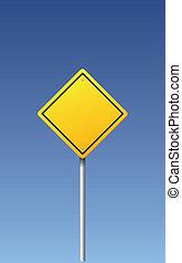 vecteur, -, signe, route, vide