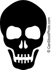 vecteur, silhouette, crâne, icône