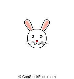 vecteur, simple, illustration, lapin