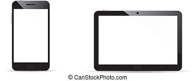 vecteur, smartphone, tablette