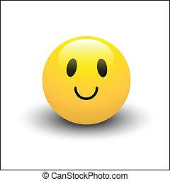 vecteur, smiley, heureux