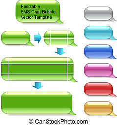 vecteur, sms, resizable, bavarder, gabarit