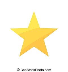 vecteur, star., or, illustration