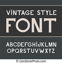 vecteur, style, font., étiquette, vendange