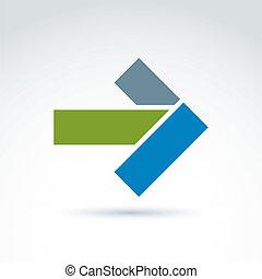 vecteur, symbole graphique, elem, flèche, conception, géométrique, résumé