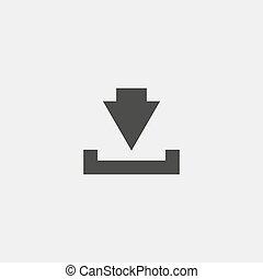 vecteur, téléchargement, noir, color., icône, eps10, illustration