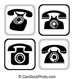 vecteur, téléphone, collection