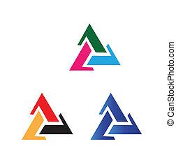 vecteur, triangle