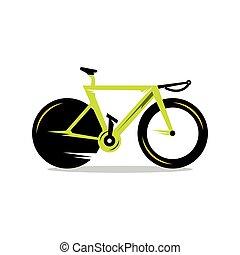vecteur, vélo, dessin animé, illustration.