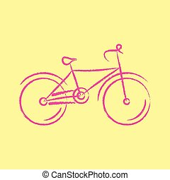 vecteur, vélo, illustration, stylisé