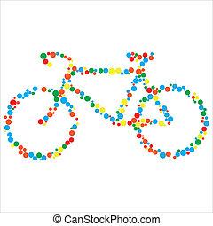 vecteur, vélo, illustration
