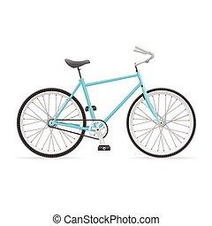 vecteur, vélo, route
