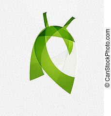 vecteur, vert, concept, feuille