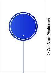 vector., vecteur, signe, vide, bleu, route, illustration