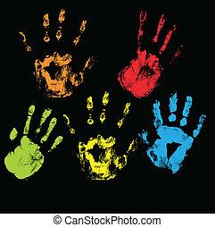 vectors, handprints
