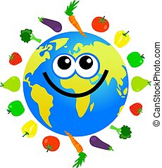 veg, globe, fruit