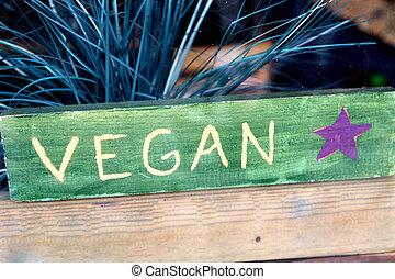 vegan, signe