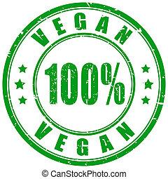 vegan, timbre, nourriture, caoutchouc