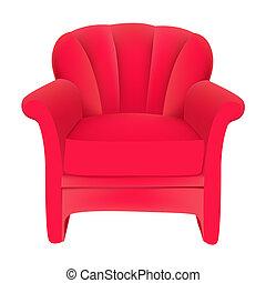 velours, fond, chaise, rouges, facile, blanc