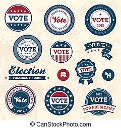 vendange, élection, insignes