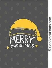 vendange, année, joyeux, nouveau, noël carte, heureux