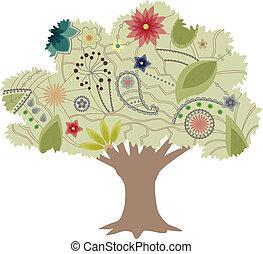 vendange, arbre