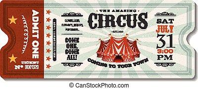 vendange, billet, cirque
