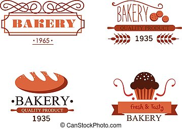 vendange, boulangerie, étiquettes