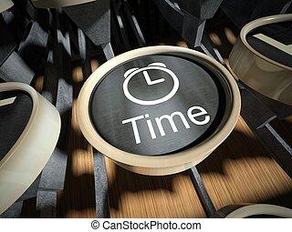 vendange, bouton, machine écrire, temps