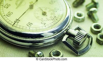vendange, cadran, stopwatch.