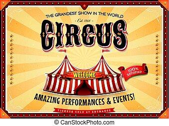 vendange, chapiteau, cirque, affiche, grandiose