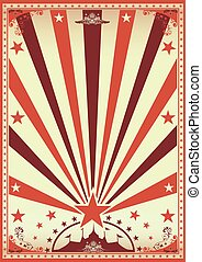 vendange, cirque, brun, affiche