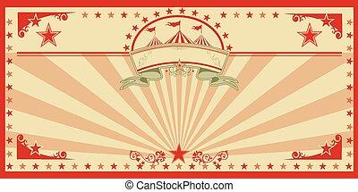 vendange, cirque, carte, rouges