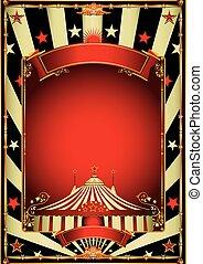 vendange, cirque, gentil, divertissement