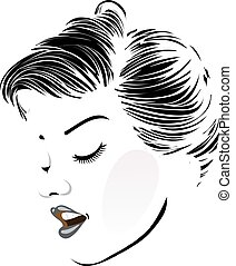vendange, coiffure