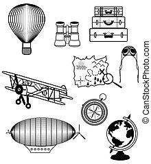 vendange, composants, voyage