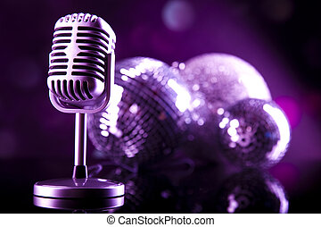 vendange, concept, musique, saturé, microphone