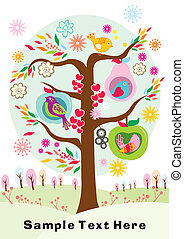 vendange, conception, oiseaux, amour