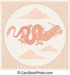 vendange, dragon chinois