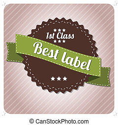 vendange, editable, retro, étiquette