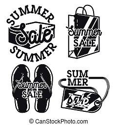 vendange, emblèmes, vente, été
