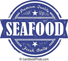 vendange, fruits mer, frais, étiquette