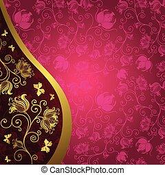 vendange, gold-purple, carte