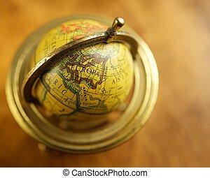 vendange, gros plan, globe.