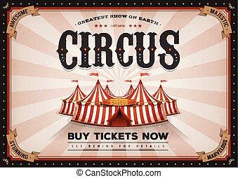 vendange, horizontal, cirque, affiche