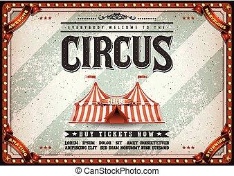 vendange, horizontal, cirque, conception, affiche