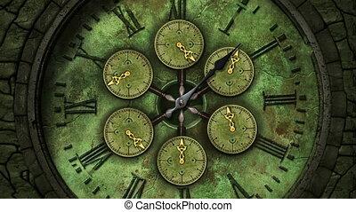 vendange, horloge tictaque, loopable, figure