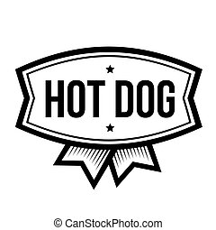 vendange, hot-dog, logo