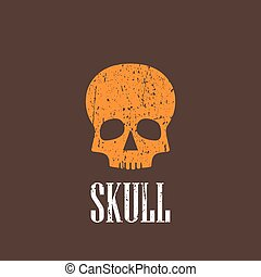 vendange, illustration, crâne